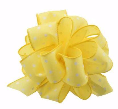 Picture of #9 Deluxe Wired Dots Ribbon - Yellow