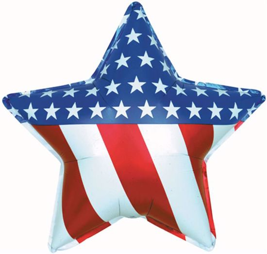 Picture of Shape Balloons: Patriotic Star