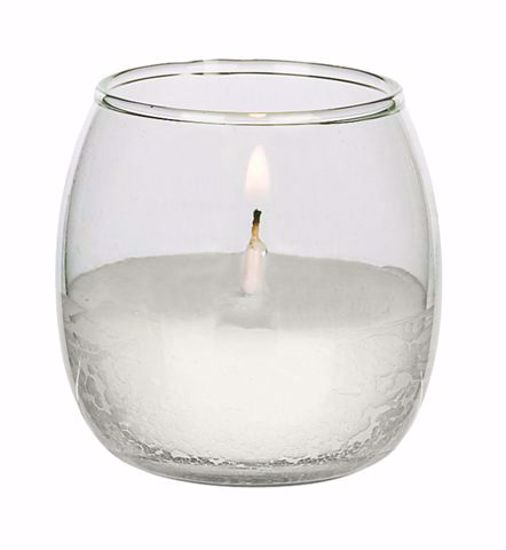 """Picture of Roly Poly 2.5"""" Glass Votive - Clear"""