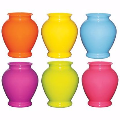 """Picture of Syndicate Sales 6.25"""" Ginger Vase - Popsicle Assortment"""