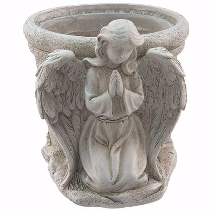 """Picture of Praying Angel With Pot 4"""""""