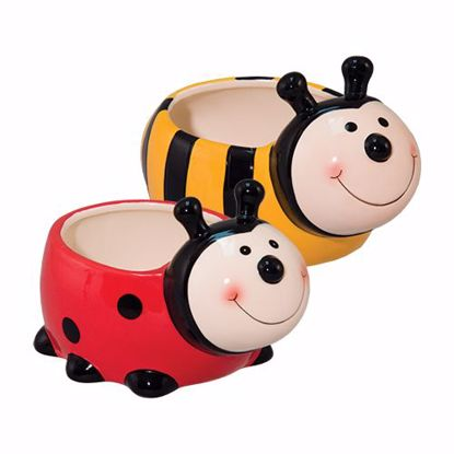 Picture of 2 Asst Ceramic Bee & Ladybug