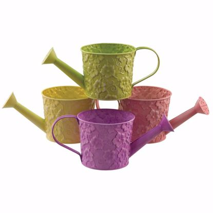 """Picture of 4 Asst Metal Watering Can 4.5"""""""