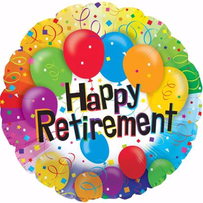 "Picture of 17"" 2-Sided Foil Balloon: Happy Retirement Balloons"