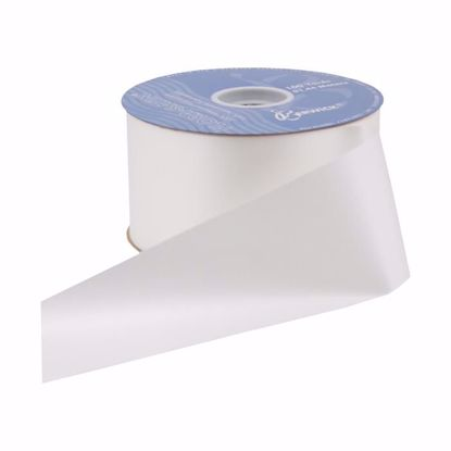 Picture of #9 Waterproof Poly Flora-Satin Ribbon - White