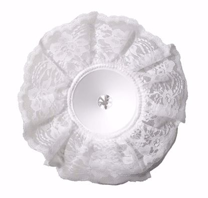 "Picture of OASIS Lomey Lace Bouquet Collars - 10"" White Lace"