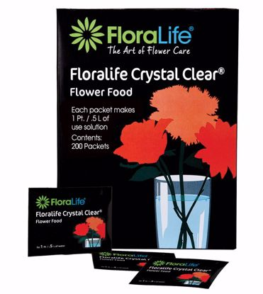Picture of Floralife Crystal Clear Flower Food 300 Powder - 1 Liter/1 Quart Packet (100 Counter Display)