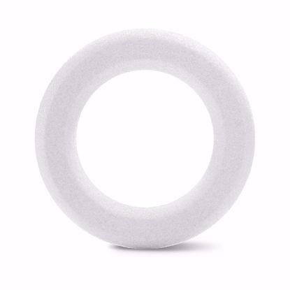 "Picture of White Beveled Styrofoam™ Wreath - 12"""