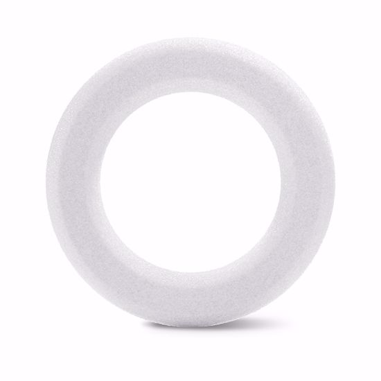 Picture of White Beveled Styrofoam™ Wreath - 12""