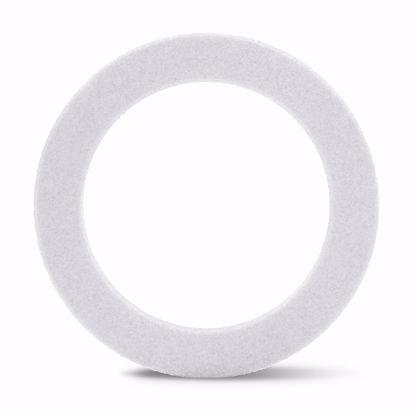 "Picture of White Beveled Styrofoam™ Wreath - 18"""
