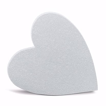 """Picture of White Styrofoam™ Solid Heart - 18"""""""
