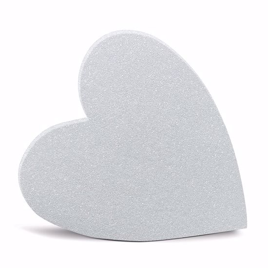 """Picture of White Styrofoam™ Solid Heart - 24"""""""