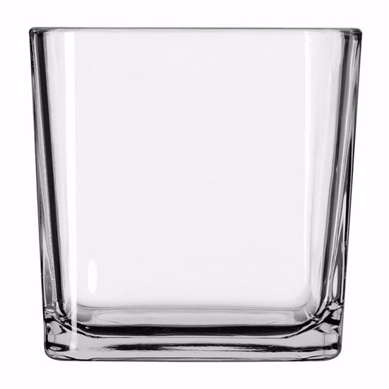 """Picture of Oasis 4"""" Tapered Cube Votive - Clear Glass"""