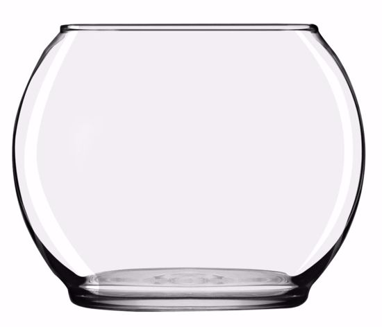 "Picture of Oasis 3 7/8"" Footed Bubble Ball - Clear Glass"