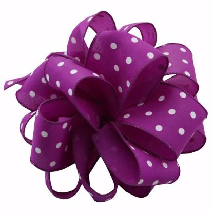 Picture of #9 Deluxe Wired Dots Ribbon - Purple