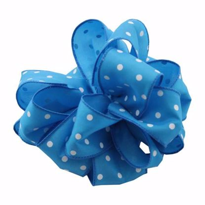 Picture of #9 Deluxe Wired Dots Ribbon - Turquoise