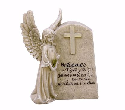 Picture of Polyresin Angel Memorial Stone