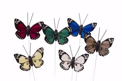 Picture of Butterfly On A Wire Pick (6 Assorted)
