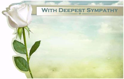 Picture of With Deepest Sympathy Enclosure Card (PACK 50)