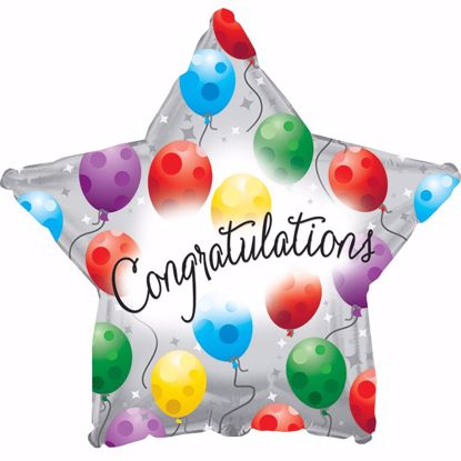 """Picture of 17"""" 2-Sided Foil Balloon: Congrats Twinkle"""