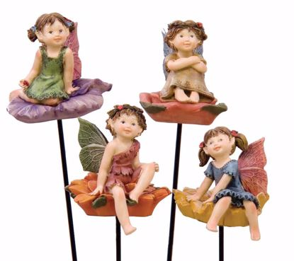 """Picture of 11.25"""" Polyresin Fairy Pick (4 Assorted)"""