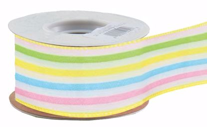Picture of #9 Daylene Ribbon - Wired Multi Stripe