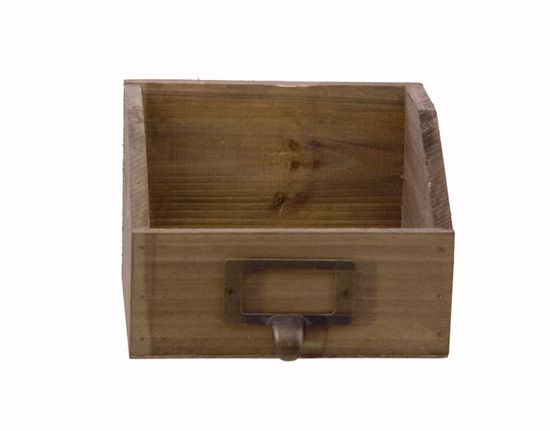 Picture of Square Wooden Drawer Planter