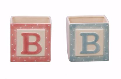 Picture of 2 Asst Ceramic Baby Blocks