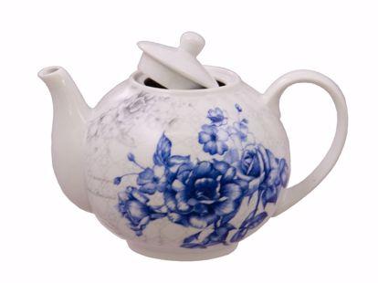 Picture of Blue England Porcelain Rose Teapot