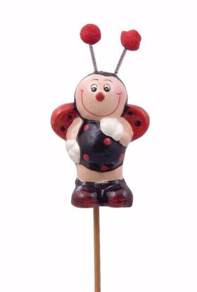 """Picture of 2"""" Polyresin Ladybug Pick"""