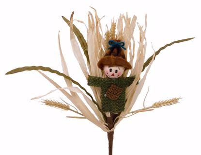 """Picture of 12"""" Scarecrow Rafia Wheat Pick"""