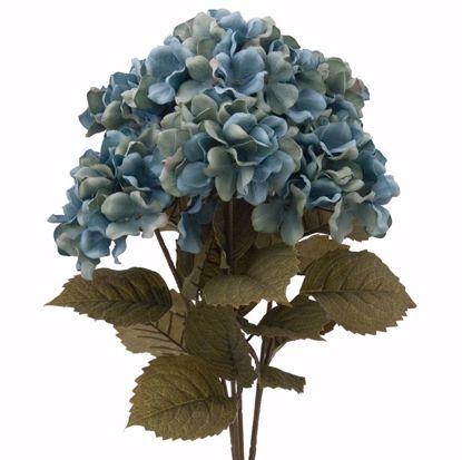"""Picture of Aqua Hydrangea Bush (21"""", 7 Stems)"""