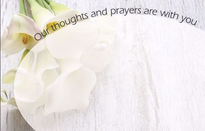Picture of Thoughts And Prayers Enclosure Card (PACK 50)