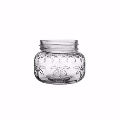 """Picture of Syndicate Sales 3.5"""" Glass Jardin Vintage Jar - Clear"""