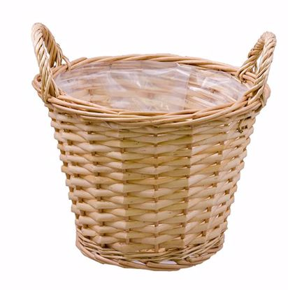 """Picture of 7"""" Natural Willow Pot Cover"""
