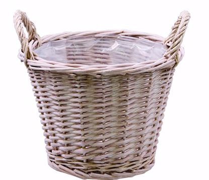 """Picture of 7"""" Whitewash Willow Pot Cover"""