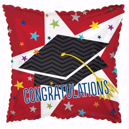 """Picture of 17"""" 2-Sided Foil Balloon: Big Star Congratulations"""