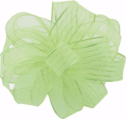 Picture of #3 Striped Chiffon Ribbon - Lime