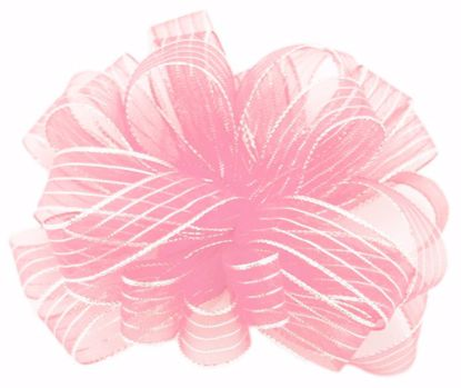 Picture of #3 Striped Chiffon Ribbon - Pink