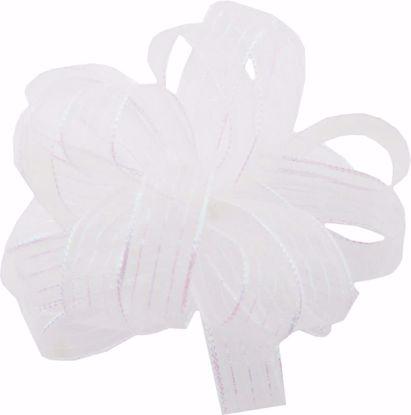 Picture of #3 Striped Chiffon Ribbon - White Pearl