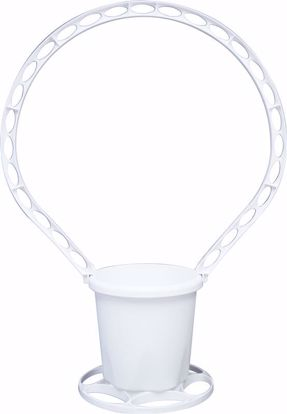 Picture of Oasis Round Sympathy Basket - White