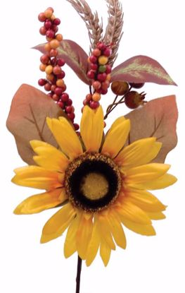 """Picture of 13"""" Sunflower Berry Pomegranate Pick"""