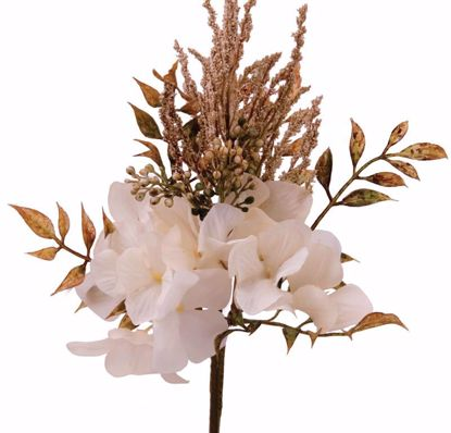 "Picture of 12"" Beige Hydrangea Berry Pick"