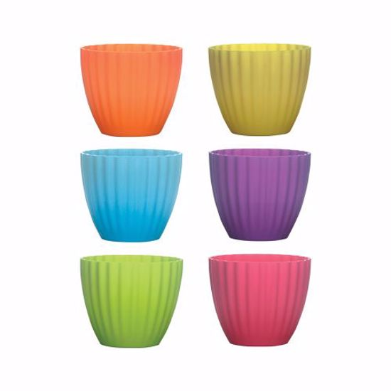 """Picture of Syndicate Sales 4.375"""" Parasol Vase - Popsicle Assortment"""