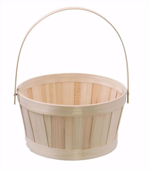 """Picture of 7.25"""" Round Natural Bamboo w/Bale Handle"""
