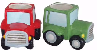 """Picture of 2 Asst Ceramic Tractor Planter 3"""""""