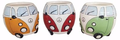 Picture of 3 Assorted Ceramic Round VW Bus Planter