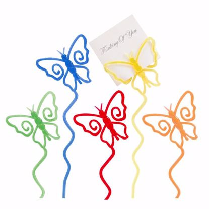 "Picture of 12"" Butterfly Cardholders - 5 Assorted Colors"
