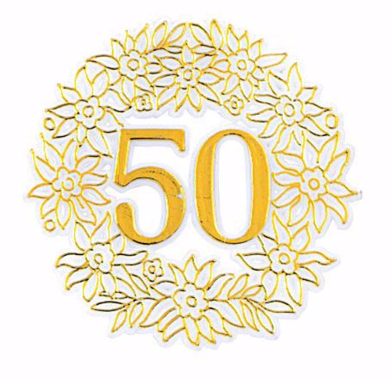"""Picture of 3"""" 50th Anniversary Gold Pick"""