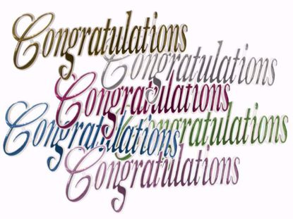 "Picture of 5"" Congratulations Pick (Assorted Colors)"